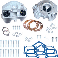S & S Cycle Natural Super Stock Cylinder Heads (Rubber Band Intake) 90-1498