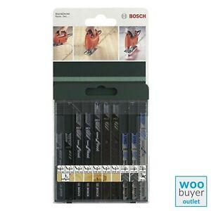 Bosch Jigsaw Blade Set (10 Pieces) for Metal & Wood 2609256775