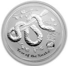 2013 1 Oz Silver $1 Australia LUNAR YEAR OF THE SNAKE With LION Privy Coin.