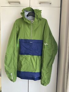 Rapha Mens Explore Hooded GORE-TEX Pullover Size Large Green / Blue Brand New