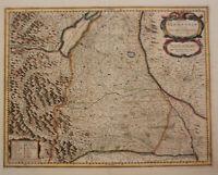 "Orig. kol. Kupferstichkarte Jansson ""Nova Alemannialsive Sueviae"" um 1650 sf"