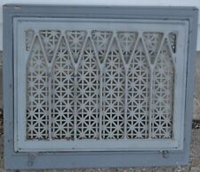 Vintage Metal/Steel Vent Grate Cover Heat Register Gray
