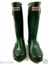 Hunter Young Original W23500 Tall Rain Boots Green Size USA.2M/3F UK.1
