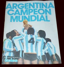 FIFA WORLD CUP 1978 - RARE Goles MAGAZINE with 200 pictures + Colour POSTER