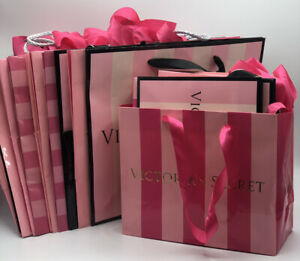 Victoria Secret Paper Shopping Bags (14) 11x9 & (13) 7.5x6 Lot of 27 Bags