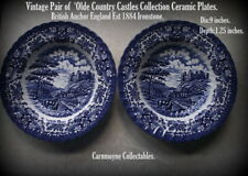 Pair of Vintage Olde Country Castles Ironstone Soup Plates.AH2177.