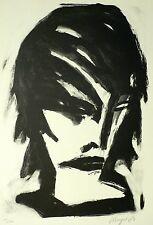 MICHAEL HENGST - Frauenkopf - Lithografie 1987