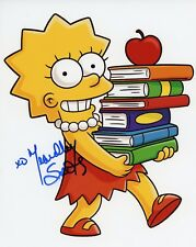 """~~ YEARDLEY SMITH Authentic Hand-Signed """"LISA - THE SIMPSONS"""" 8x10 Photo C~~"""