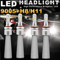 FANLESS H11 9005 CREE Headlight High Low Beam 22000LM A6 For Chevy Silverado EOA