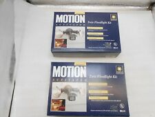 Motion activated twin flooslight kit by Regent, 2 sets.