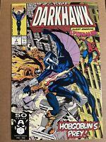 Darkhawk #2 VF 1991 Spider-Man Appearance Marvel Comics MCU