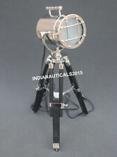 Designer Searchlight Table Lamp Black Wooden Tripod Home & Office Decor