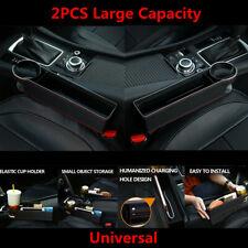 2PCS Large Capacity Car Seat Crevice Gap Filler Storage Box Organizer Universal