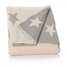 Star Grey White Cream Baby Children's Nursery Bedroom Sofa Throw Cover Blanket