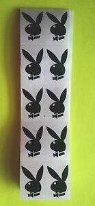 ~~50~~ AUTHENTIC PLAYBOY BUNNY W/ BOW TIE TANNING BODY STICKERS TANTOOS BLACK
