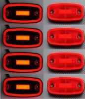 LED 8x Posizione & Freno Stop Luci 12/24V per Camion Telaio Scania Man Volvo