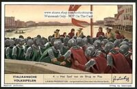 The Battle Of The Bridge Pisa Italy 1930s Trade Ad  Card
