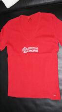 1 T-Shirt von ESPRIT rot, bedruckt, Gr. XS, V-Ausschnitt, Kurzarm, Baumwolle