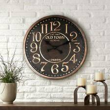 """1863 Old Town London 23 1/2"""" Wide Rustic Vintage Wall Clock"""