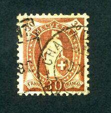 SWITZERLAND 1891-1902 30c Deep brown P11.5x11 (Type A Wmk 8) SG 148 Used (S*-10)