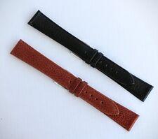 Cinturino pelle colore nero o marrone ansa mm.20 18 Extra large XL lungh. 22cm.