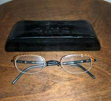 Airo France Leopard Skin Women's Glasses Frames 1217 PUR TITANE w/ case Preowned