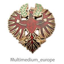 Tirol Brosche Anstecknadel Emaille Adler Wappen rot grün enamel brooch eagle
