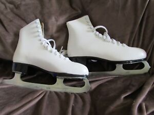 Lange Libra White  Figure Skates, Women's 7 - made in CANADA