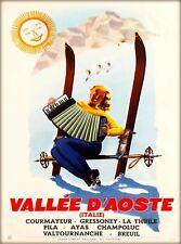 Vallée d'Aoste Aosta Valley Italy Vintage Europe Travel Advertisement Art Poster