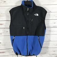 The North Face Denali  Mens Fleece Vest Jacket Blue Coat Athletic Medium
