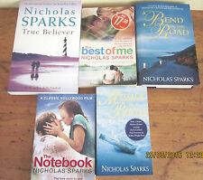 ~NICHOLAS SPARKS x 5 - BEND IN THE ROAD, TRUE BELIEVER, BEST OF ME + 2 - ALL GC~