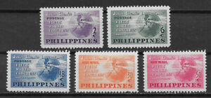 PHILIPPINES ,1950, 5th WORLD CONGRESS  , SET OF 5 STAMPS , VLH , CV$5.15