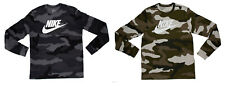 Nike Men's Long Sleeve Camo Cotton T-Shirt - Size M L XL XXL - CI6101 New w/Tags