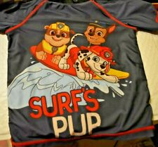 Old Navy Boys PAW PATROL Swim Top  3T Beach Blue Red Surfs PUP D