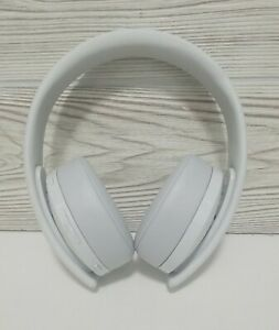 Sony PS4 Gold Wireless Headset White Edition 7.1 Surround, No Dongle, Tested
