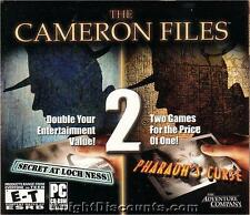 The CAMERON FILES 2x PC Games Adventure Win 98 XP - NEW in Sealed BOX