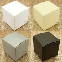 Wedding Favour Boxes x50 5cm Party Candy Bomboniere Gift Square Sweets Macaron