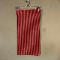 Lululemon Vinyasa Scarf Wrap Orange Black Stripes Reflective Logo EUC