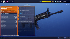 Fortnite Save The World Level 106 Nocturno Full Upgraded Perks. XBox, PS4 & PC