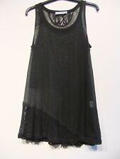 Deca Black Light Knit / Weave Top/ Tunic.  New T2