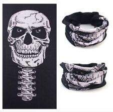 Tour de cou tete de mort skull masque moto noir cache nez microfibre