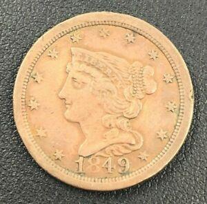 1849 Braided Hair Half Cent