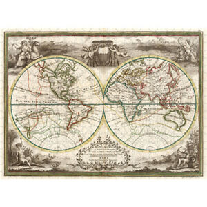 Wooden Jigsaw Puzzles 500 PCS World Map in 1788 Educational Toy Gift Home Decor