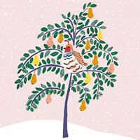 Pack of 8 Mini Partridge Pear Tree Shelter Charity Christmas Cards Xmas Card Pac