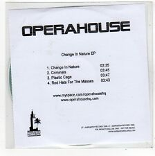(FO501) Operahouse, Change In Nature EP - 2008 DJ CD