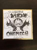 ONE PIECE Eiichiro Oda Autograph Shikishi Limited 1500 colored paper Rare