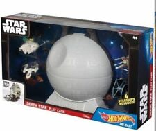Star Wars Death Star Play Case (huge) & 4 Star ships Set By Hot Wheels Brand NEW