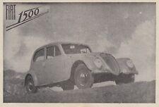Z7040 Automobile Fiat 1500 - Werbung Oldtimer - 1939 Vintage Werbung