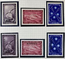 Argentina 622 - 24 Beautiful Mint Never Hinged Imperf Set Muestra (Specimen) Set