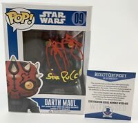 Ray Park Autographed Star Wars Darth Maul Funko POP Signed Sith Rule Beckett COA